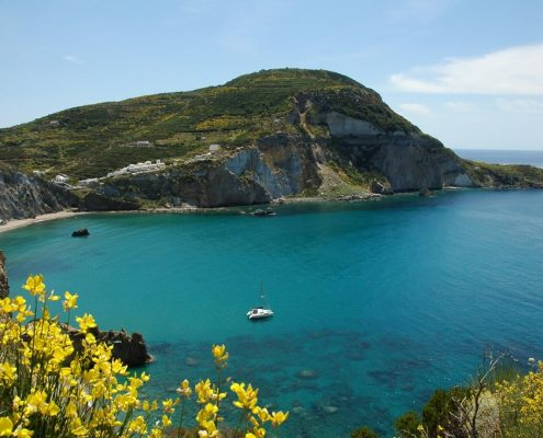 Crewed Charter Pontine Islands beach ponza