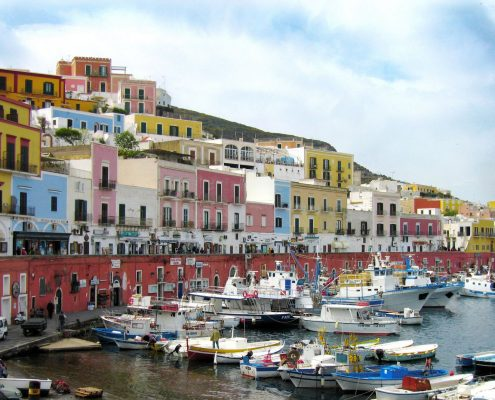 Crewed Charter Pontine Islands ponza town