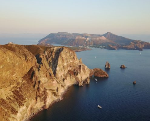 aeolian islands yacht charters lipari volcano