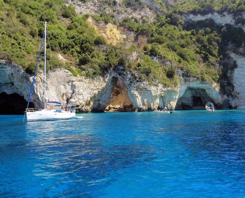 sailing cruises in greece paxos cave