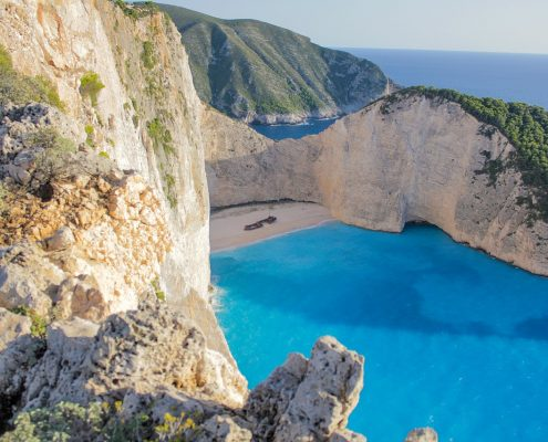 sailing cruises in greece zante bay