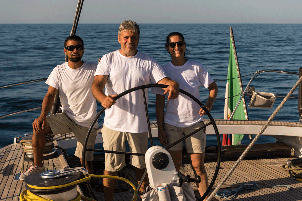 logica yacht double steering