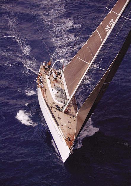logica yacht under sail