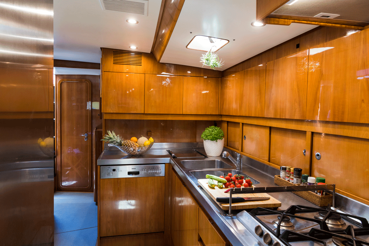 logica yacht kitchen