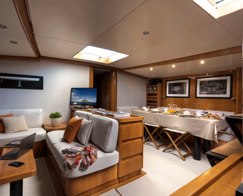 logica yacht salon interior