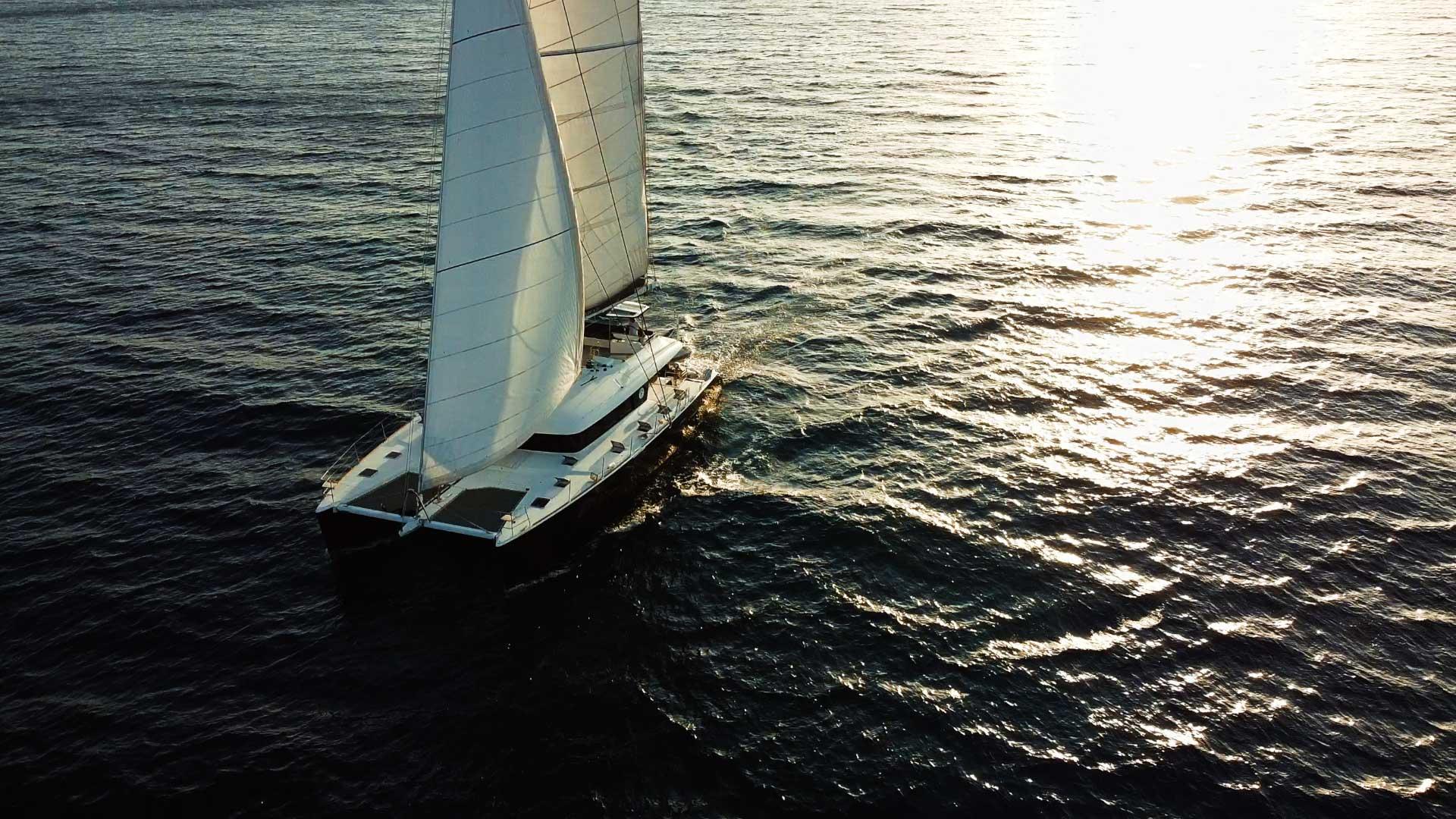 sailing catamaran aeolian islands
