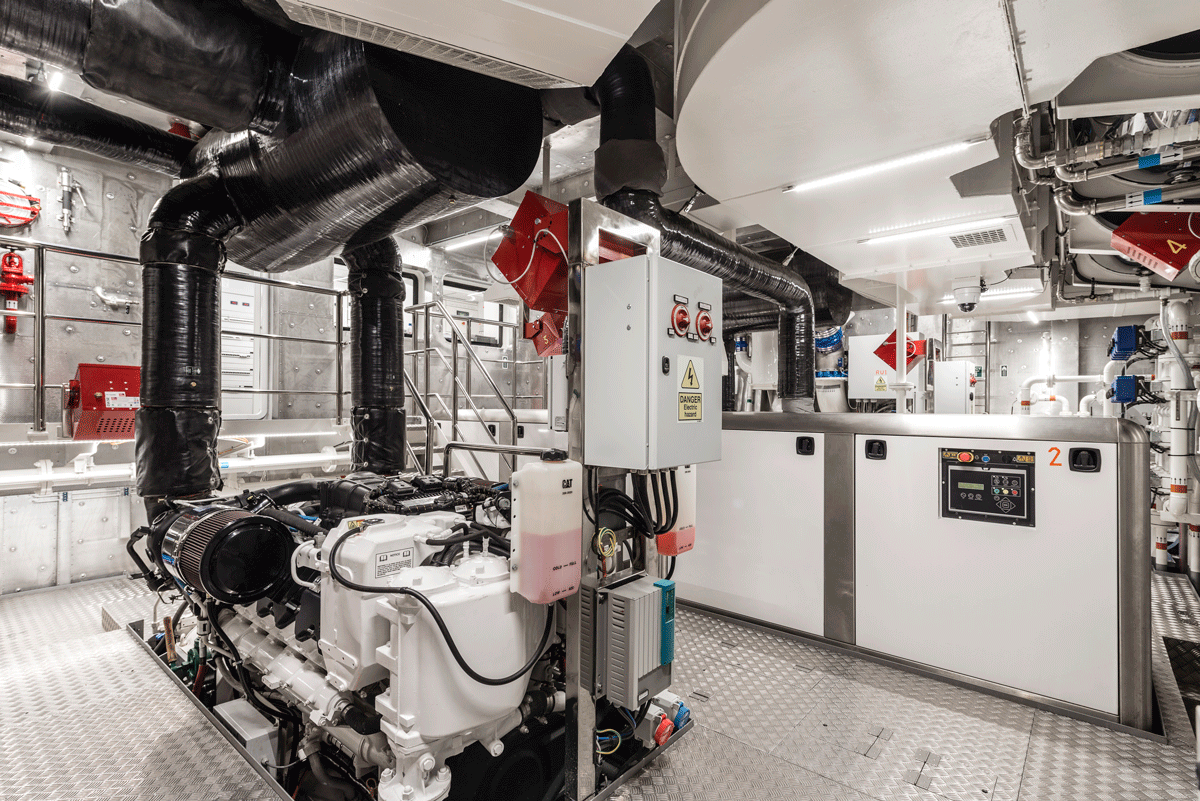 genesia yacht engine room