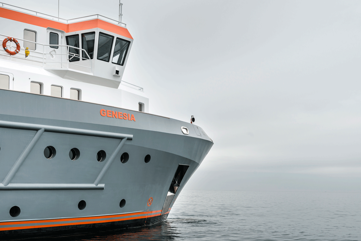 genesia yacht exterior detail