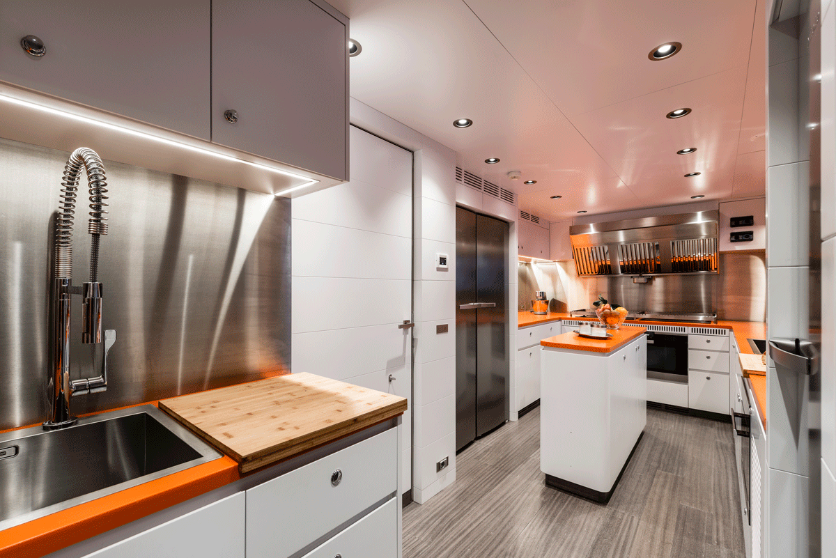 genesia yacht interior kitchen