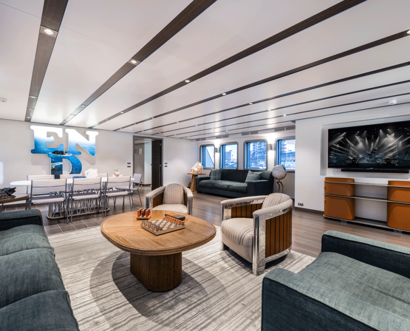 genesia yacht interior salon