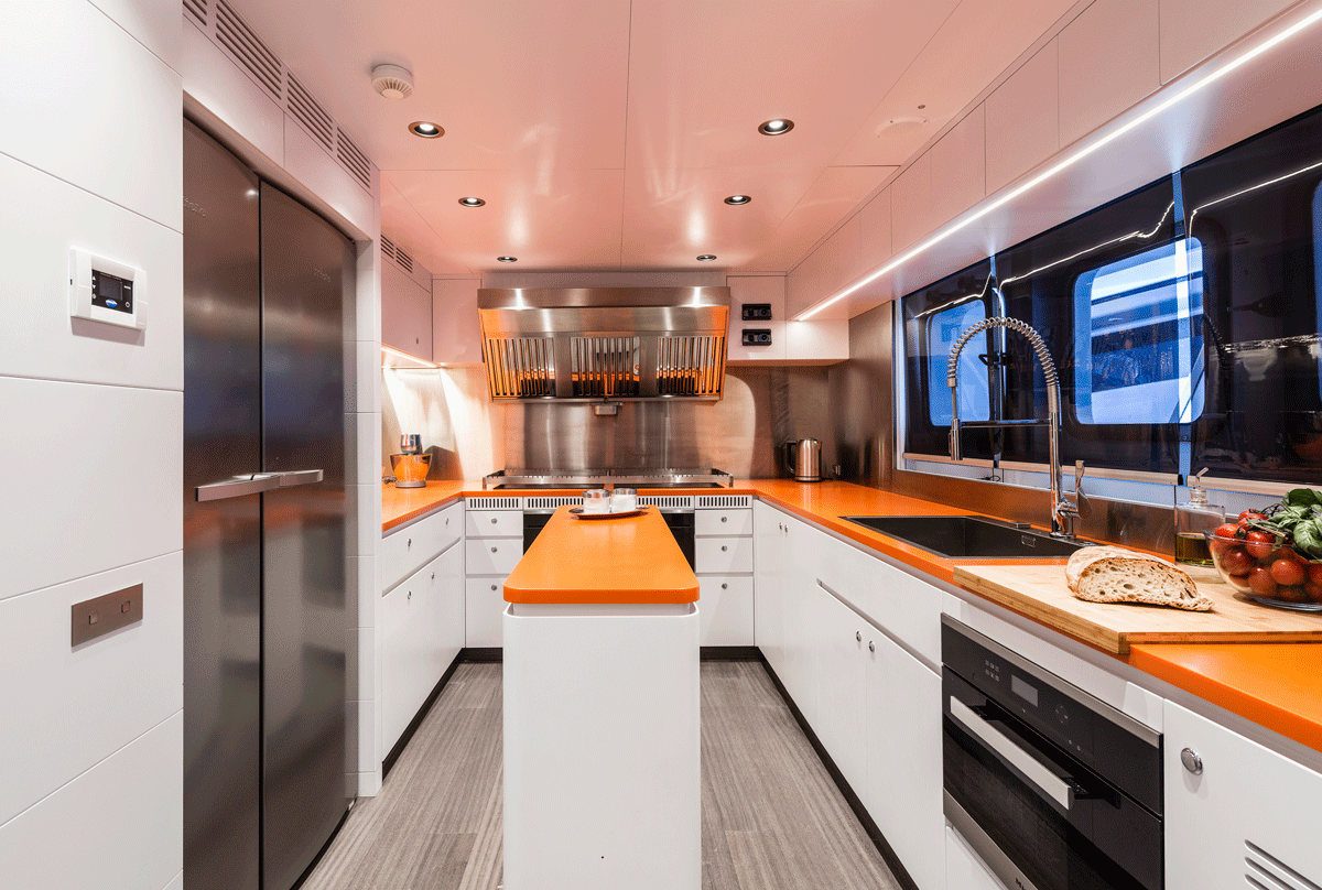 genesia yacht kitchen