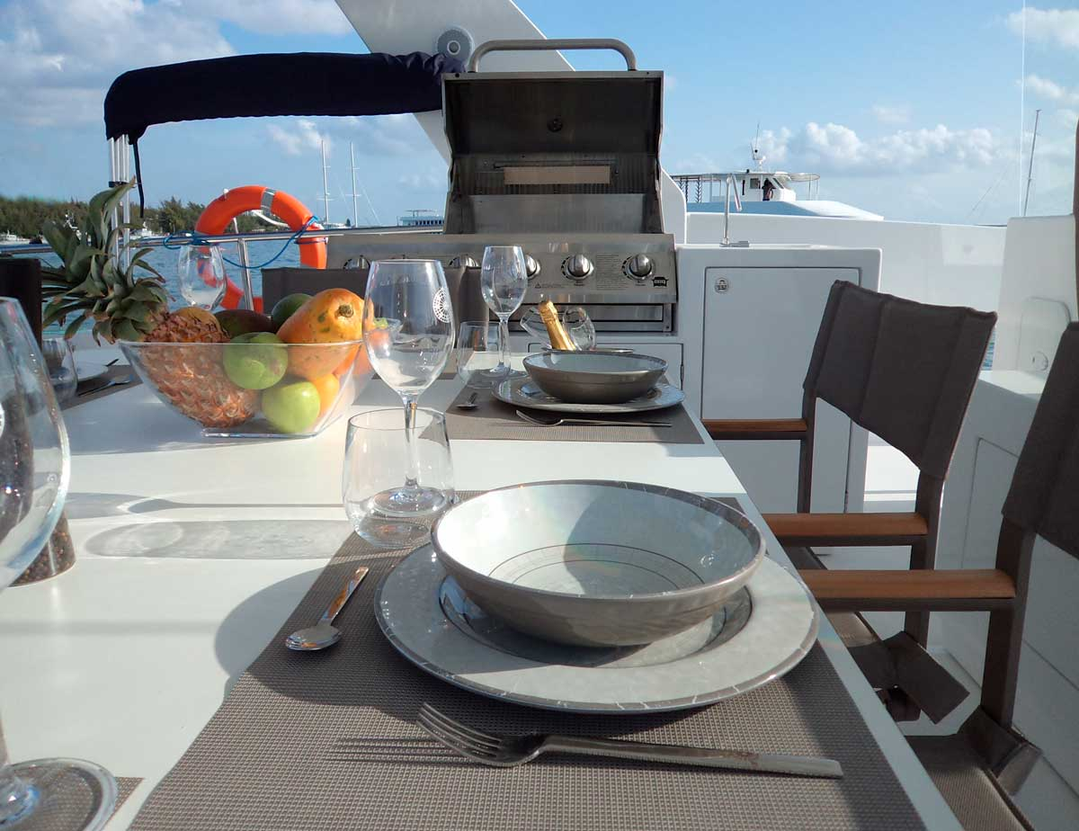 over reef dining table