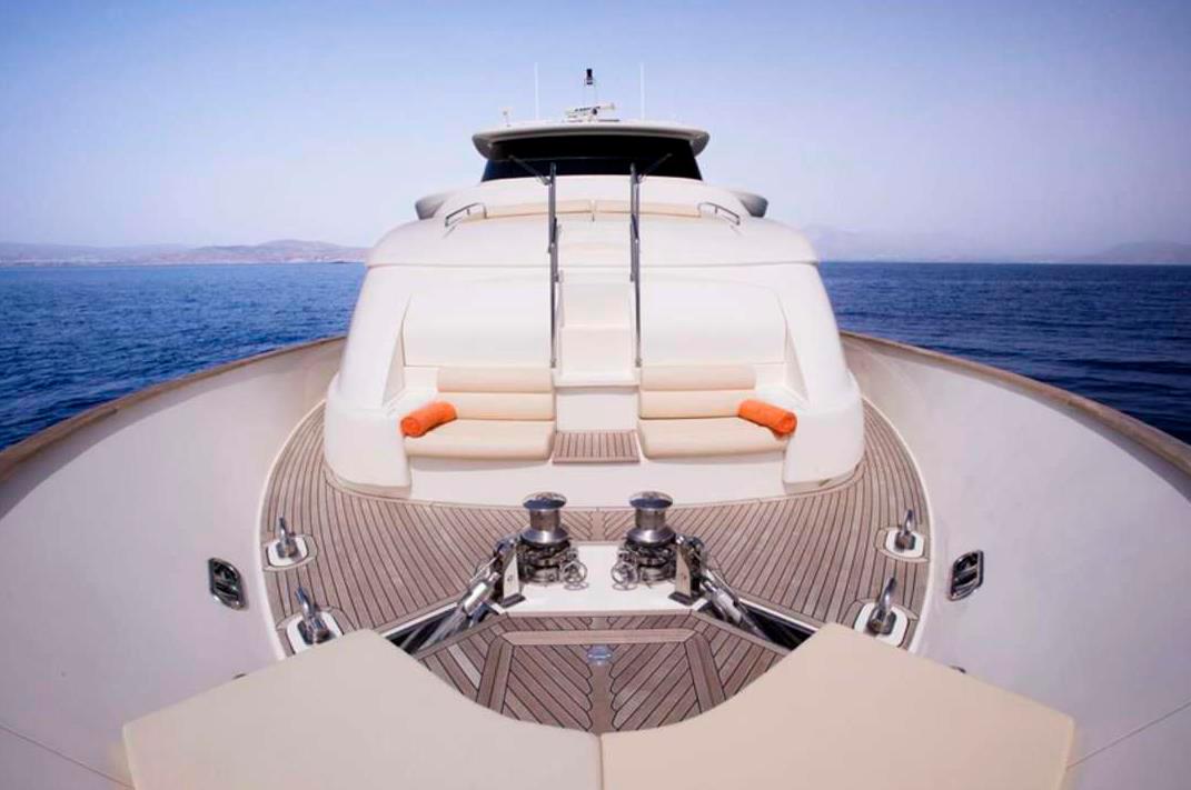 dana yacht ferretti deck