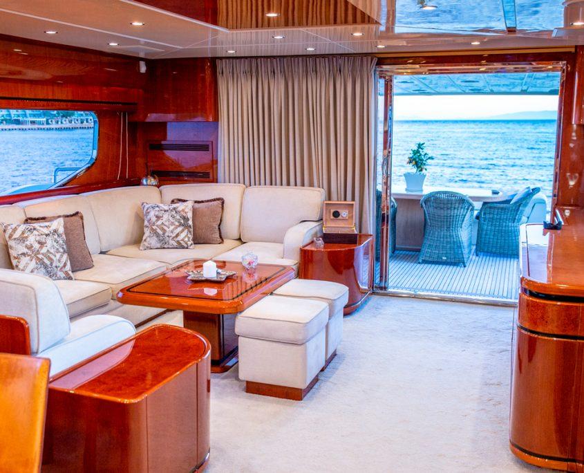 pareaki motor yacht interior saloon