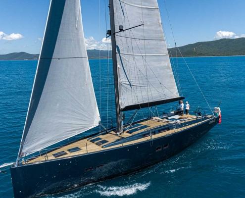 kind of blue custom sailing yacht